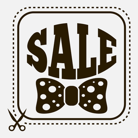 Vintage sale label with stylish bow-tie Vector
