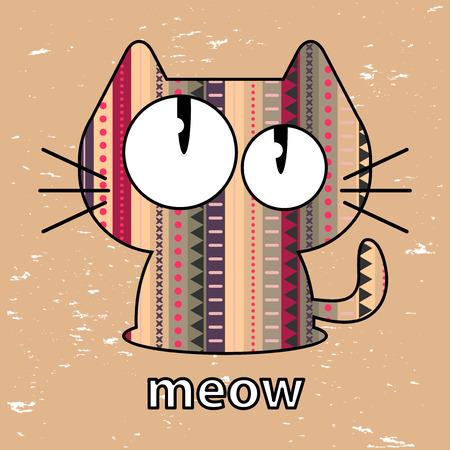 texture of illustration: Cute kitty seamless texture illustration