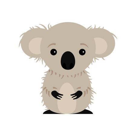 Cute koala isolated on white Vector