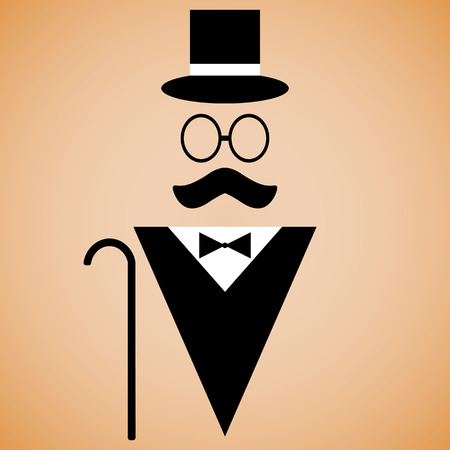 Gentleman silhouette, clothing and accessories Vector