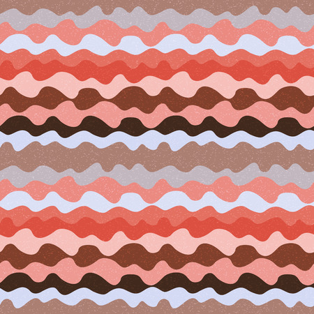 Retro abstract seamless pattern with waves Vector
