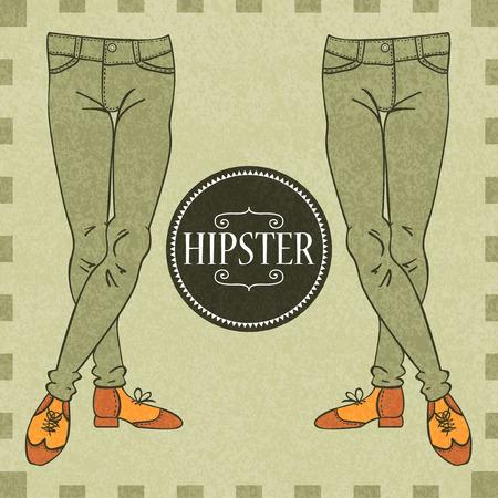 skinny jeans: Piernas masculinas en elegantes jeans ajustados