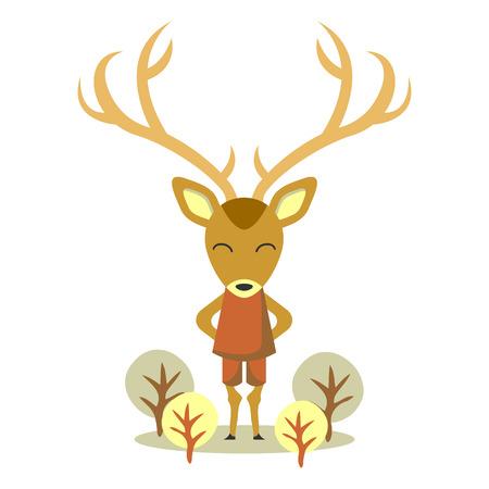 huge antlers: Cute deer with huge antlers
