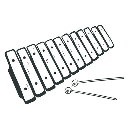 xylophone: Sketched xylophone illustration