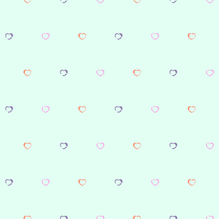 babyish: Romantic retro seamless pattern with hearts  Vector seamless texture for wallpapers, pattern fills, web page backgrounds