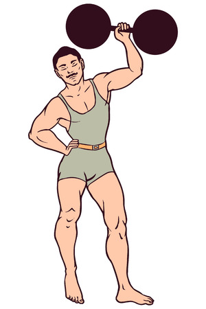 Circus illustration, strong man Illustration