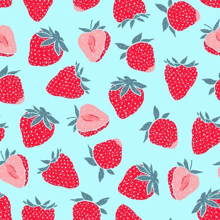 Seamless avec des petits fraises Vector seamless texture pour fond d'écran, motifs de remplissage, page web milieux