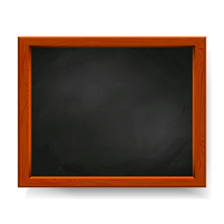 Black vector blackboard isolated on white Vector
