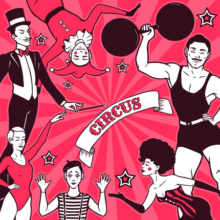 Circus performance advertisement Illustration
