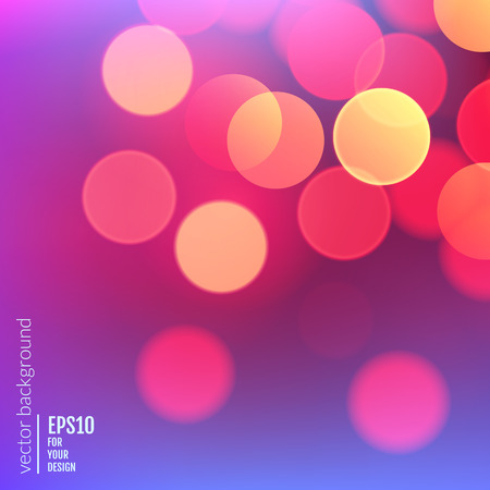 backdrop design: Vector realistic abstract background with blurred defocused bokeh lights Illustration