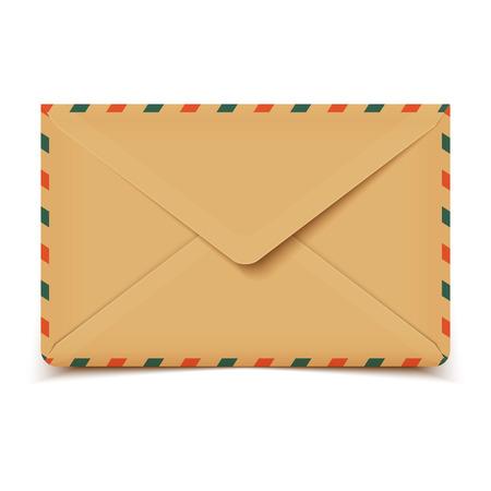 old envelope: Blank old retro vector envelope isolated on white Illustration