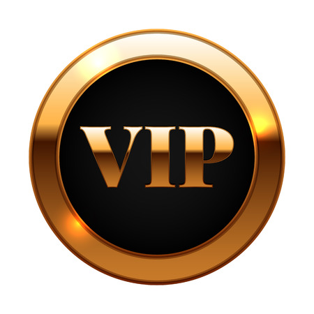 premium member: Gold and black vip label vector illustration Illustration