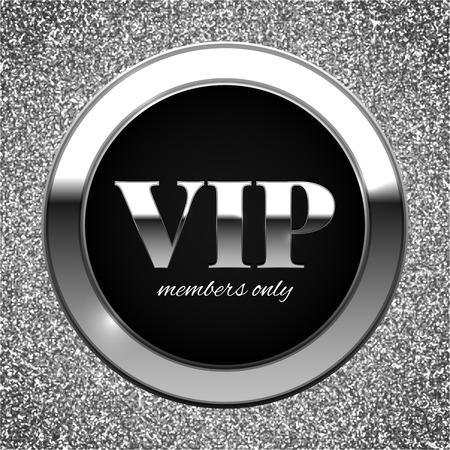 premium member: Silver VIP vector illustration on shiny glitter background