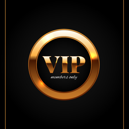 glamorous: Gold and black vip label shiny glamorous vector illustration Illustration