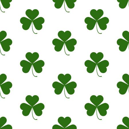 shamrock seamless: Seamless pattern with Saint Patricks day shamrock symbols
