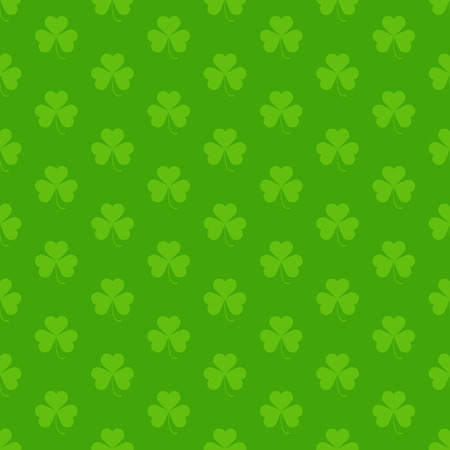 shamrock seamless: Green seamless pattern with Saint Patricks day shamrock symbols
