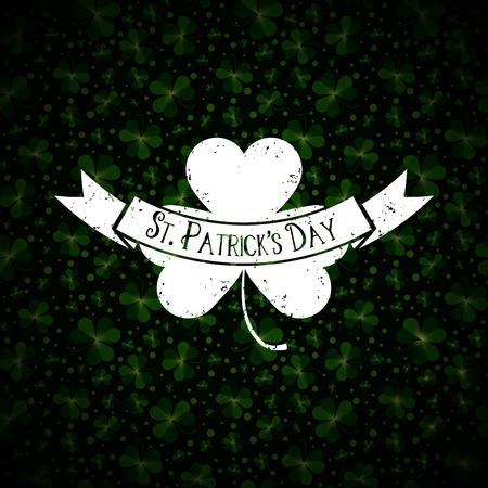 feast of saint patrick: Saint Patricks Day vector greeting card