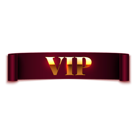 Vip text on ribbon vector illustration Vector