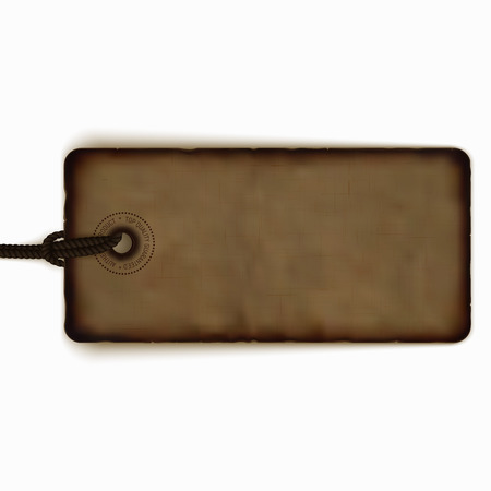 Blank Vector Vintage Price Tag Realistic Label Badge Banner Isolated On White Stock