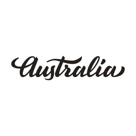 southern: Australia handwritten text, brush pen lettering, t-shit, poster, logo design, vector illustration Illustration