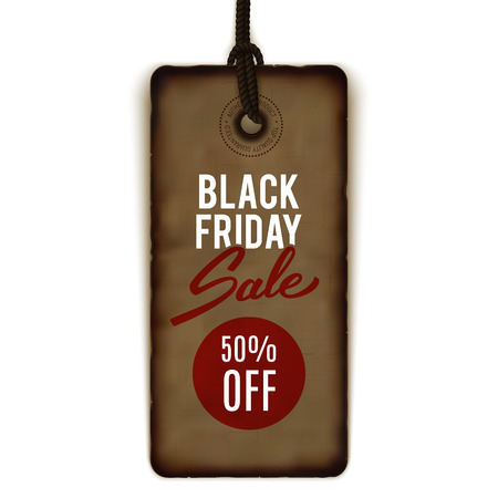 Black Friday sale tag, banner, advertising, vector illustration