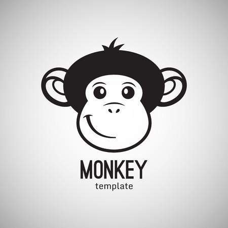 monos: Cara de mono divertido, a�o nuevo 2016, ilustraci�n vectorial icono del dise�o