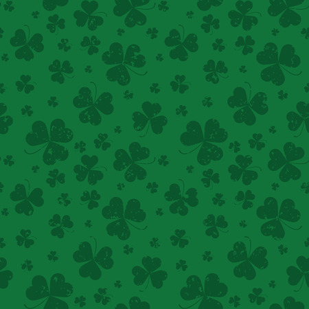 shamrock seamless: Seamless pattern with Saint Patricks day shamrock leaves