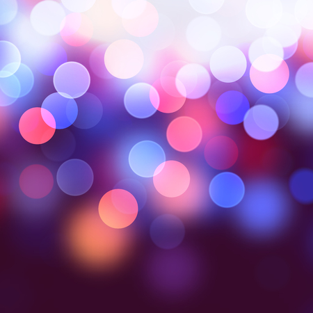 Vector realistic abstract background with blurred defocused bokeh lights Illustration