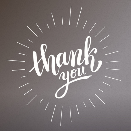 A brush pen lettering handwritten thank you, vector illustration