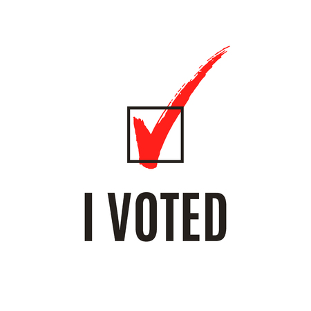 I voted text and ticked checked box, vector illustration