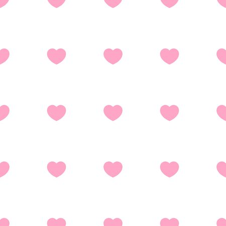 Cute pink hearts romantic seamless patttern. Texture for wallpapers, fabric, wrap, web page backgrounds, vector illustration