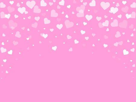 Hearts romantic background, cute Valentine design, vector illustration Vektoros illusztráció