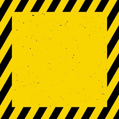 Black and yellow background; warning, caution, vector illustration