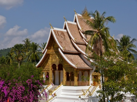 buddhismus: Temple in Luang Prabang