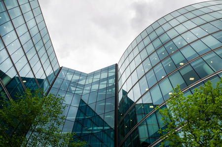 green building: Building reflections