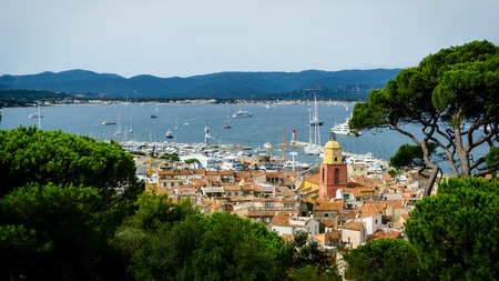 panoramic beach: Saint Tropez panorama
