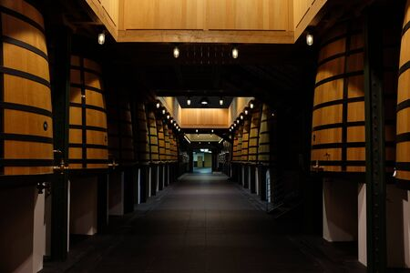 Photograph of a famous french winery of the medoc region