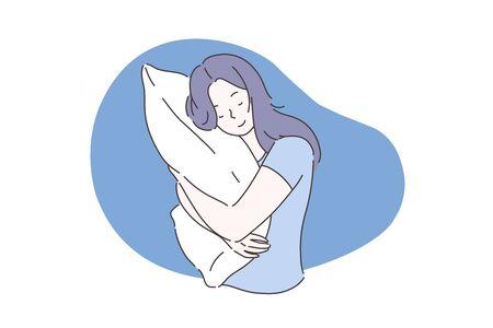 Doux rêve ou concept de sommeil.