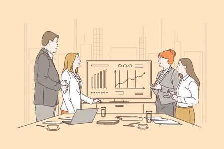 Teamwork, brainstorming meeting concept Ilustração