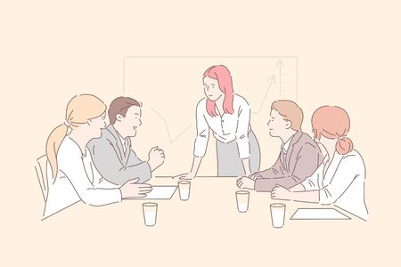 Conference room meeting concept