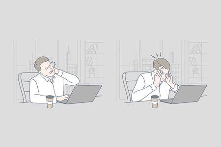 Business, stress, work, problem set concept