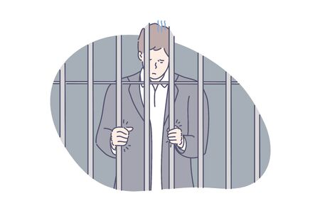 Jail, prisoner, fraud concept