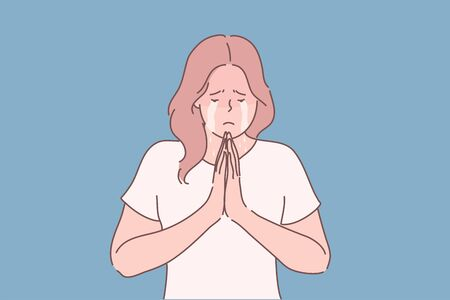Religion, praying, begging concept