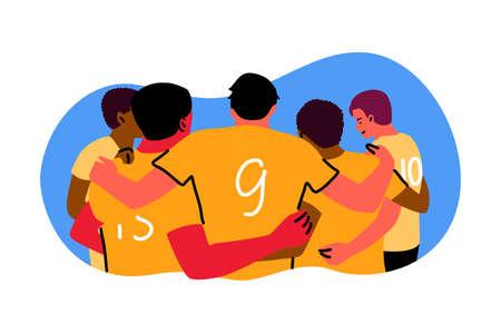 Sport, teamwok, celebration, winning concept