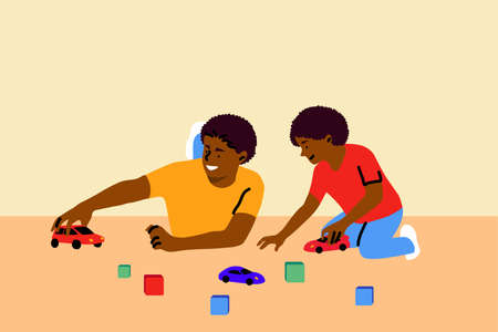 Game, fatherhood, childhood, family, recreation concept