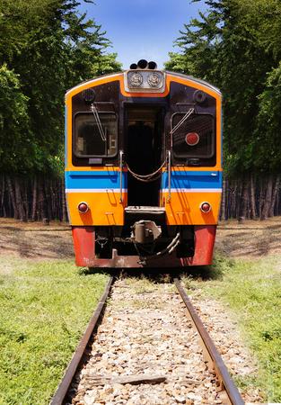 diesel train: Beautiful photo of public Thai diesel train