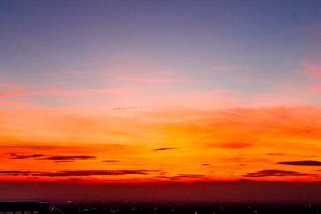 Landscape sunset, Tokyo City View Imagens