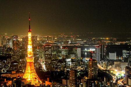 風景東京タワー夜景、東京シティー ビュー