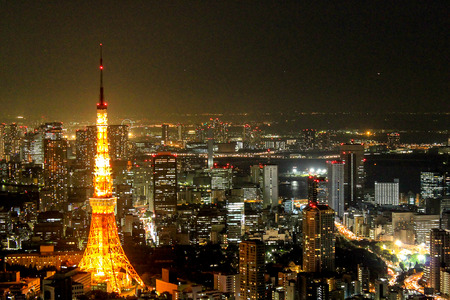 city view: Landscape Tokyo Tower night view, Tokyo City View