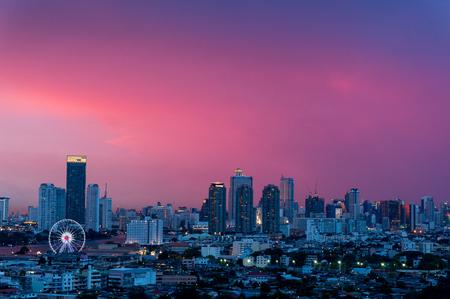 afterglow: Landscape sunset, Bangkok City View